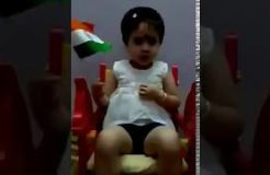 Cute Baby Singing National Anthem